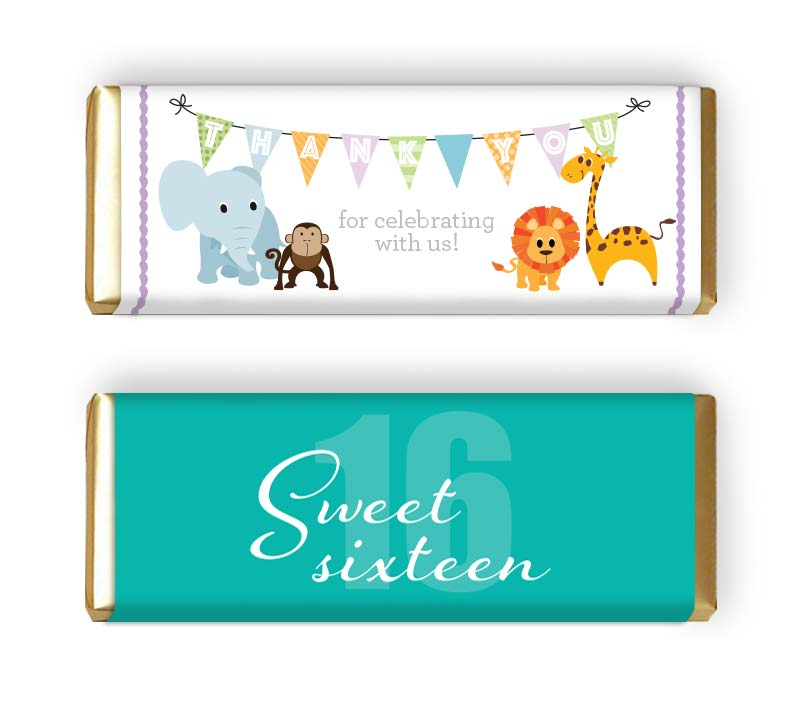 Custom event candy bar wrapper