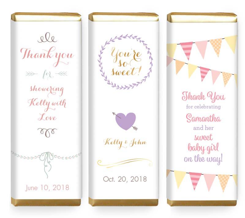 Custom event candy bar wrapper