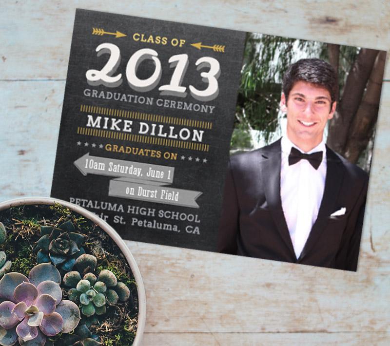 Chalkboard Grad Invite