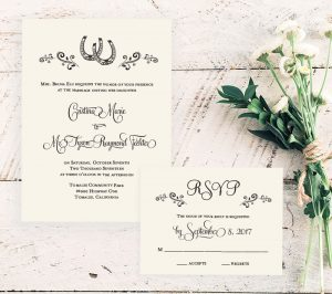 Country Princess Wedding Invitation