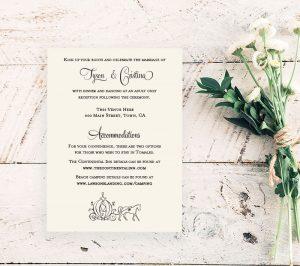 Country Princess Reception Card