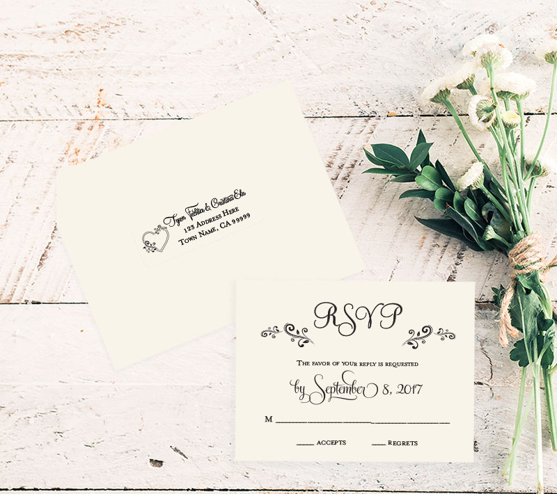 Country Princess RSVP Card