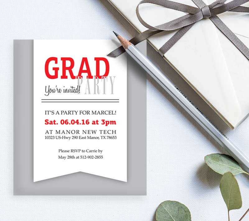 Grad Party Invitation Inserts