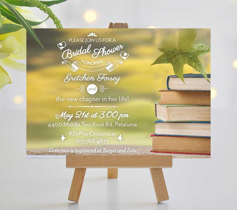 A New Chapter Bridal Shower Invitation