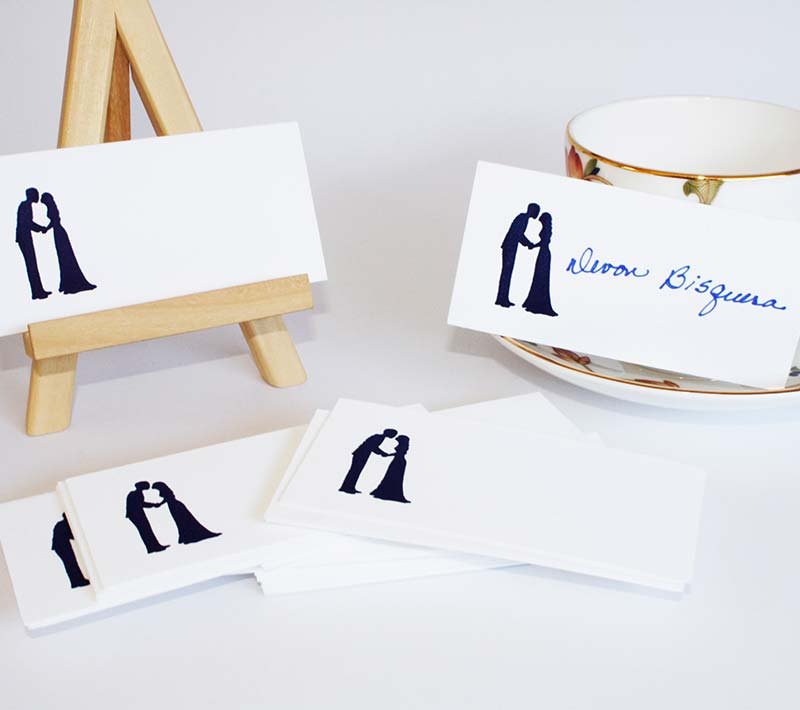 A Wedding at Midnight Placecards
