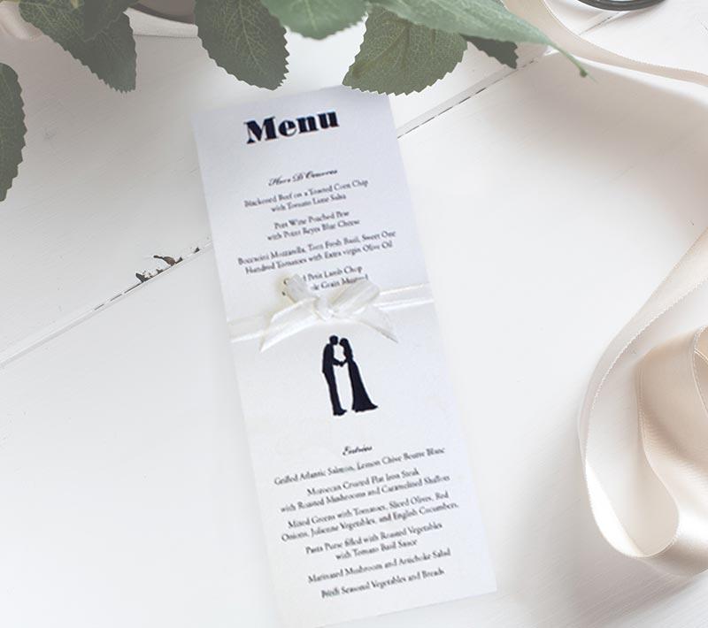 A Wedding at Midnight Menu