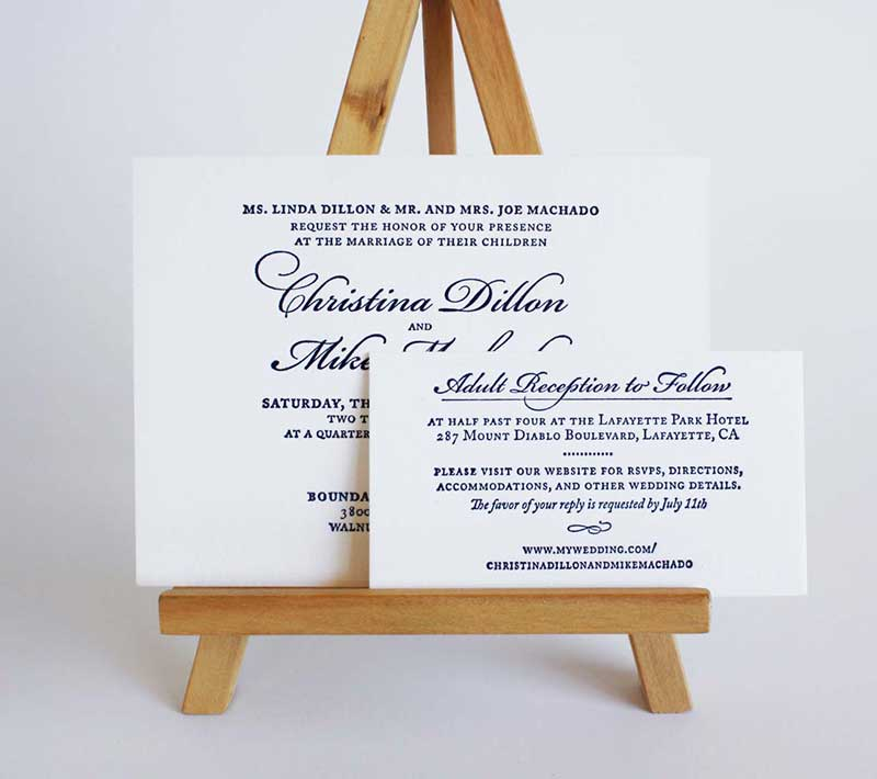 A Wedding at Midnight Invitation