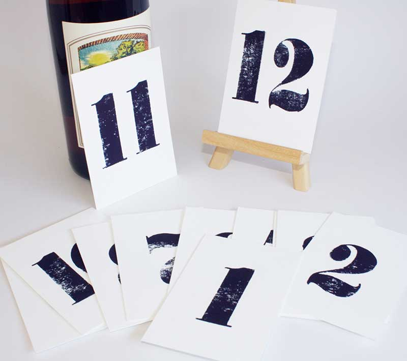 A Wedding at Midnight Table Numbers