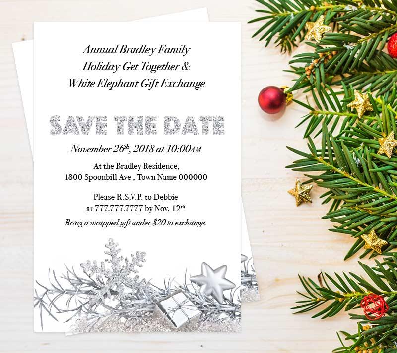 Gift Exchange Party Invitation