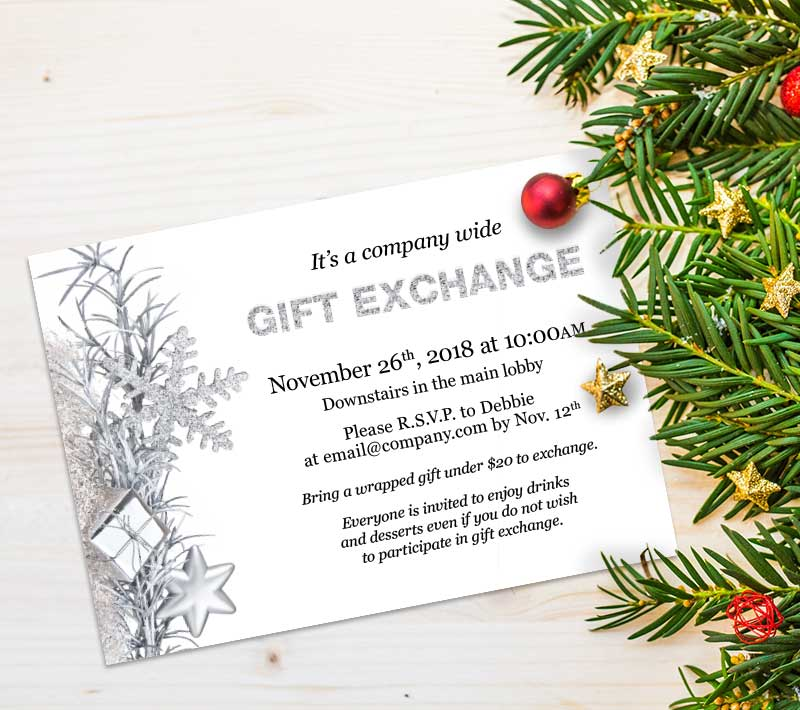 Gift Exchange Party Invitation