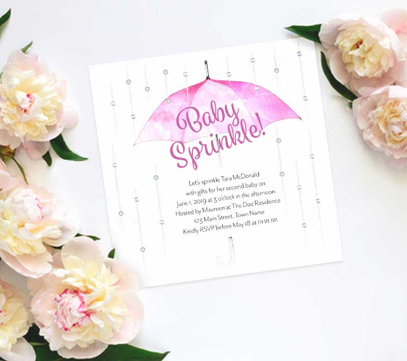 Umbrella Baby Sprinkle Invitation – C. Machado Design