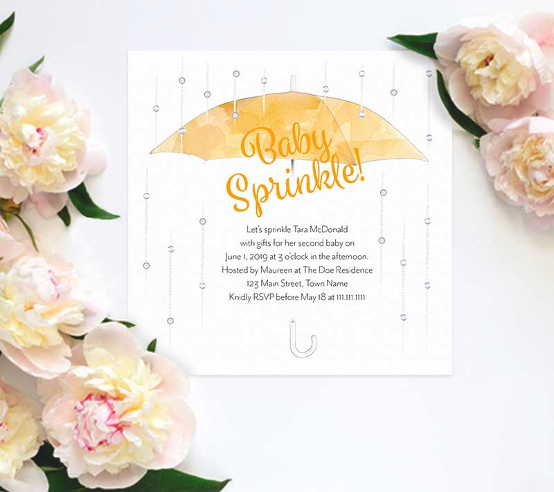 Umbrella Baby Sprinkle Invitation