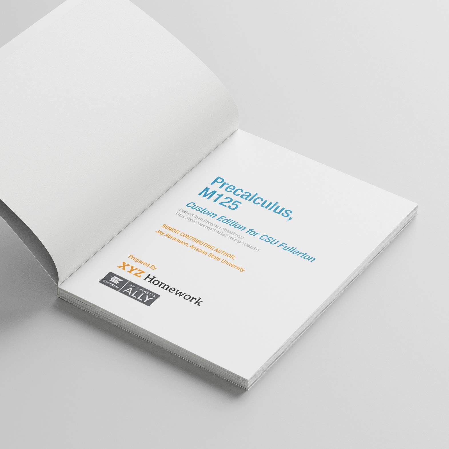 Custom Precalc textbook