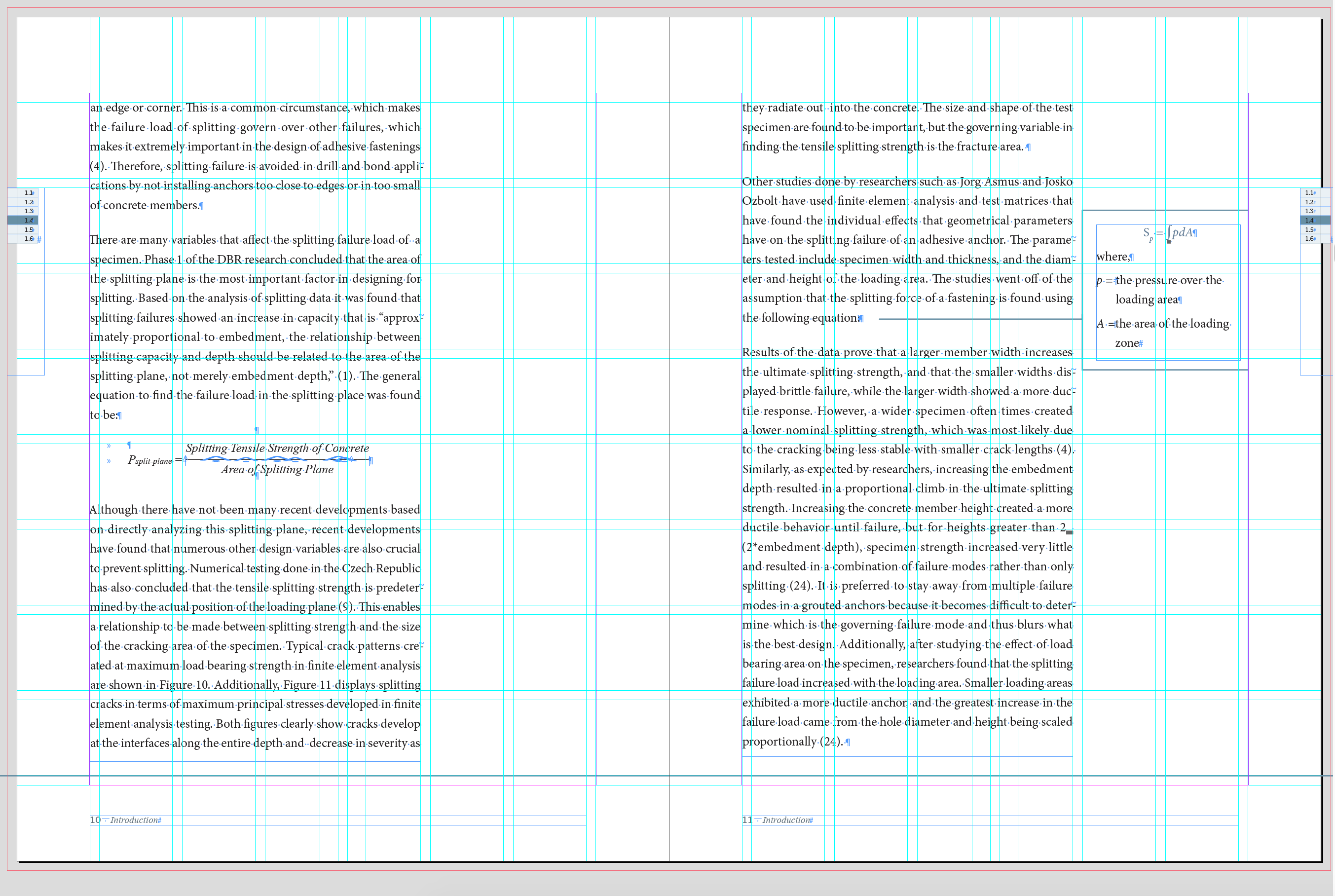 document grid for masters thesis