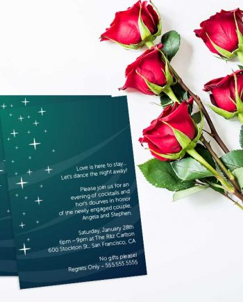 Starts at Night Engagement Party Invitation