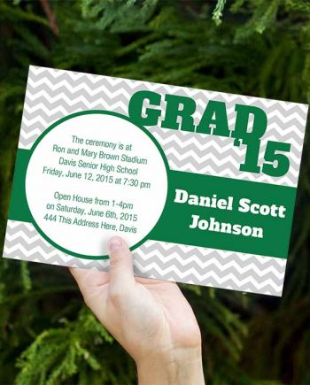 Chevrons Graduation Invitations