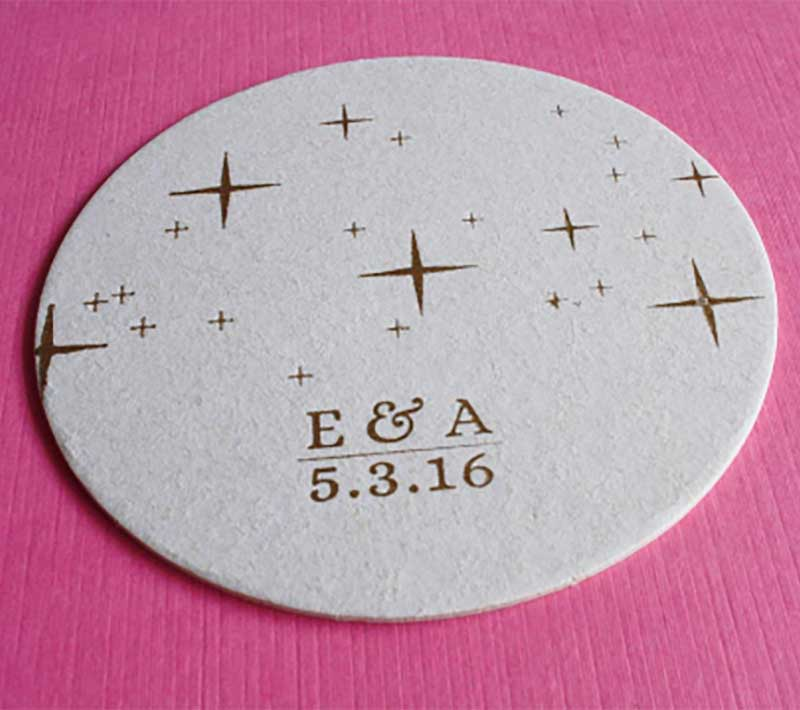 Wedding Drink Coasters