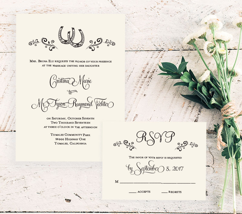 Country Princess Wedding Invitation
