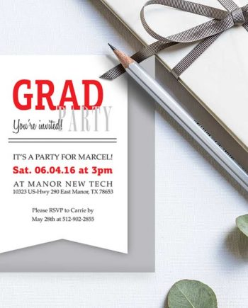 Grad Party Invitation Inserts