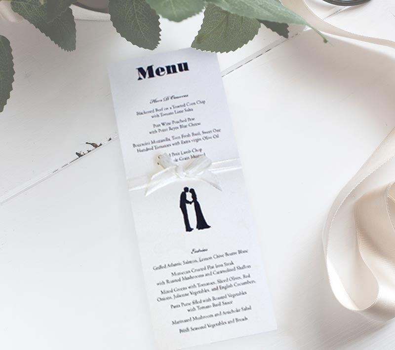 A Wedding at Midnight Menu