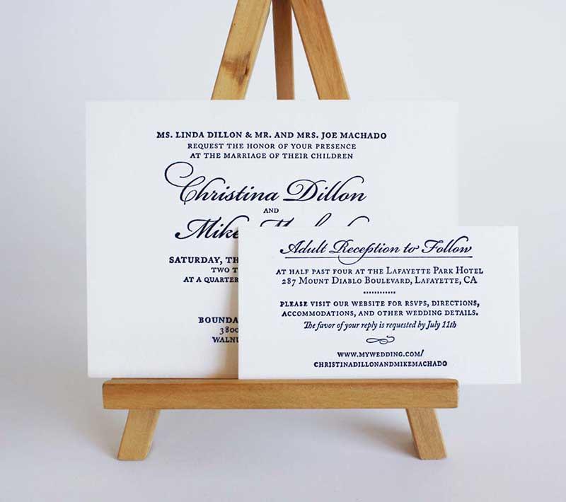 A Wedding at Midnight Invitation