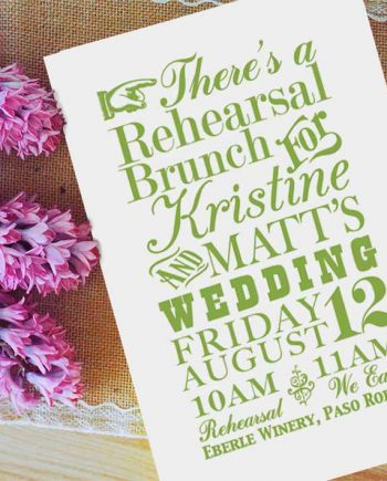 Playful Rehearsal Invitation