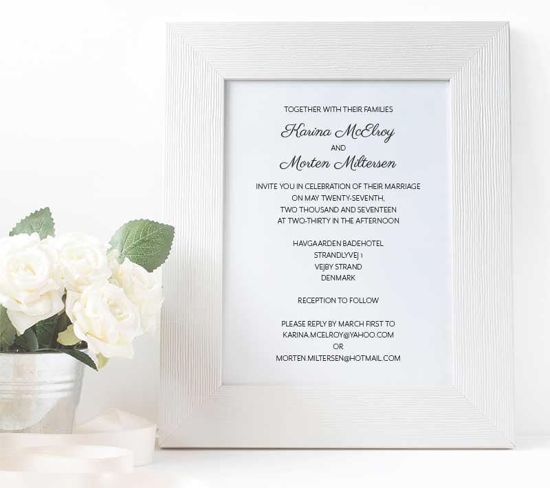 Scandinavian Dream Wedding Invitation