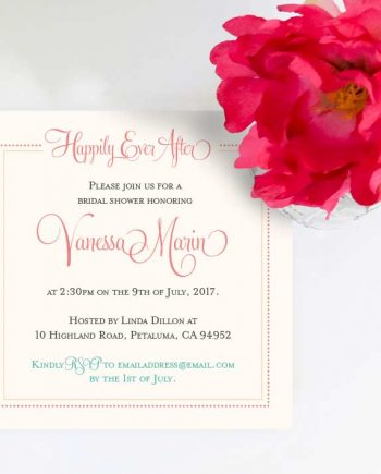 Happily Ever After Shower Invitation
