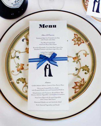 Wedding or event menu