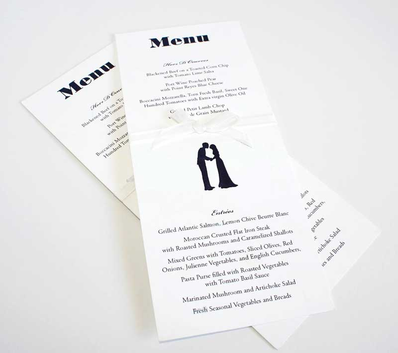Wedding Menu Sample